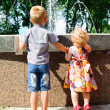 Looking at fountain — Stock Photo #13534385