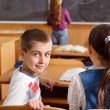 Elementary pupils in classroom during lesson — Stock Photo