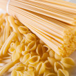 Spaghetti and shells pasta — Stock Photo