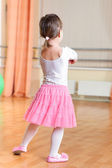 Ballet dancer at training class — Stock Photo