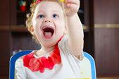 Cute little girl. Closeup — Stock Photo