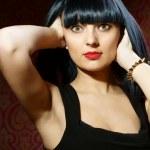 Beautiful brunette girl glamour portrait — Stock Photo #21832889