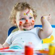 Stock Photo: Cute little child painting