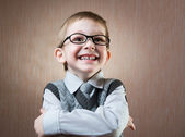 Cute little boy portrait — Stock Photo