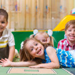 Happy children having fun at home — Stock Photo #25689131
