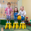 Happy children having fun at home — Stock Photo