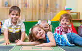 Happy children having fun at home — Stock Photo