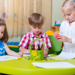 Group of cute little prescool kids playing — Stock Photo #26022295