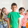 Stock Photo: Group of five preschoolers