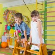 Stock Photo: Cute children in gym