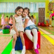 Cute children in gym — Stock Photo