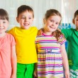 Group of fourpreschoolers — Stock Photo