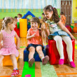 Cute children playing in gym — Stock Photo