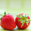 Juicy ripe strawberries in basket — Stock Photo