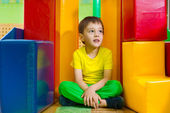 Cute little boy in daycare gym — Fotografia Stock