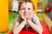 Cute little girl portrait in daycare — Stock Photo