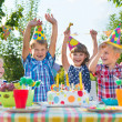 Group of kids having fun at birthday party — Stock Photo #31238967