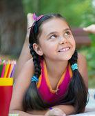 Portrait of pretty hispanic in summer day — Stock Photo