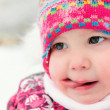 Close up portrait of pretty little girl — Stock Photo