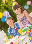 Children birthday party — Stock Photo