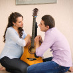 heureux jeune couple enceinte — Photo #36201793