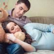 felice giovane coppia incinta — Foto Stock #36202807