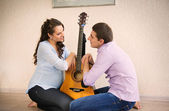 Happy young pregnant couple — Stock Photo