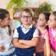 Happy pupils at school — Stock Photo #40305109