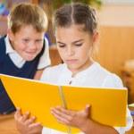 Happy pupils at school — Stock Photo #40305251