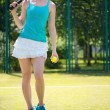 Portrait of  pretty young tennis player — Stock Photo #41663621