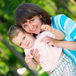 Young mother and little son in park — Stock Photo #41737977
