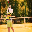 Little boy playing tennis — Stock Photo #43954211