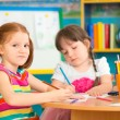 Two cute preschool girls — Stock Photo #46639831