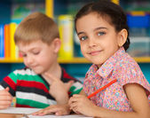 Cute children study at daycare — Stock Photo