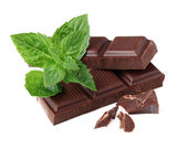 Chocolate with mint — Stock Photo