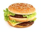Hamburger in closeup — Stock Photo