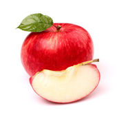 Red apple with slice — Stock Photo
