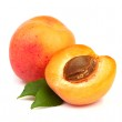 Apricots with leaves — Stock Photo #16253697