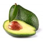 Ripe avocado with leaf — Stock Photo