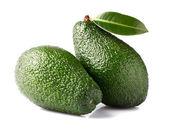 Avocados mit blätter — Stockfoto