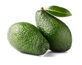 Avocados with leaves — 图库照片