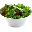 Fresh salad in a white plate — Stock Photo