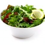 Salad with lemon — Stock Photo