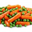 Carrots with green peas - Stock Photo