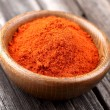 Paprika on a wooden background - Stock Photo