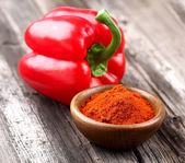 Paprika with fresh pepper — Stock Photo