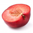 Cut red plum — Stock Photo
