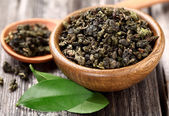 Dried green tea — Stock Photo