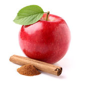 Apple with canelle — Stock Photo