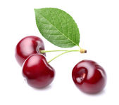 Cherry with leaf — Stok fotoğraf
